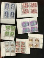 4 Séries Folklore  1039-1045 **. Cote 52,-€.  Arbalétriers.  Tambours. - Belgique