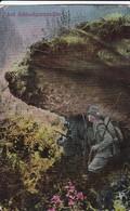 AK Auf Schleichpatrouille - Soldaten Spähtrupp - Feldpost E Rsatz-Abteilung Jäger Ers. Batl. 11 - 1917 (45392) - Weltkrieg 1914-18