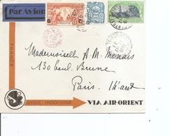 Indochine ( Lettre Par Avion De 1931 De Saigon Vers La France à Voir) - Covers & Documents