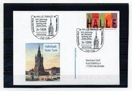 BRD, 2006, Karte (echt Gelaufen) Mit Michel 2510 Und Sonderstempel, Halle/Saale - Roter Turm - Cartas
