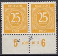 AllBes. GemAusg. 927 HAN, 4039.46.2, Postfrisch **, Mit Abart, Kontrollratsausgabe I 1946 - Gemeinschaftsausgaben