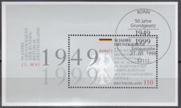 BRD  Block 48, Gestempelt, 50 Jahre Grundgesetz 1999 - [7] Repubblica Federale