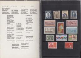 DÄNEMARK  Jahrbuch 1970, Postfrisch **, MiNr.  491-498, 501-506 - Danimarca