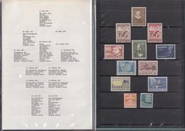 DÄNEMARK  Jahrbuch 1971, Postfrisch **, MiNr.  507-518 - Danimarca