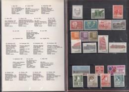 DÄNEMARK  Jahrbuch 1972, Postfrisch **, MiNr.  519-539 - Danimarca