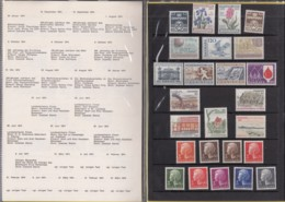 DÄNEMARK  Jahrbuch 1974, Postfrisch **, MiNr.  555-579 - Danimarca