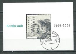 Pays-Bas Bloc-feuillet YT N°89 Rembrandt Oblitéré ° - Blocchi