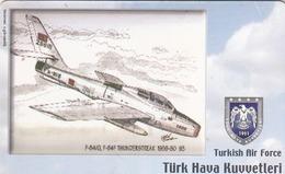 TURKEY - F-84/Q, F-84F Thunderstreak 1959-80 (93) (Aircraft) , Tirage 200,000 , 50 Unit ,used - Türkei