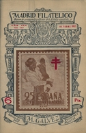 1951 . MADRID FILATÉLICO , AÑO XLV , Nº 518/9 , EDITADA POR M. GALVEZ , ÓRGANO DE PROPAGANDA Y DIFUSIÓN DE LA FILATELIA - Revistas