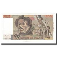 France, 100 Francs, Delacroix, 1978, TTB, Fayette:69.01g, KM:154a - 1962-1997 ''Francs''