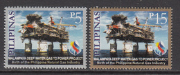 2001 Philippines Gas Rigs Energy Petroleum Complete Set Of 2 MNH - Philippines
