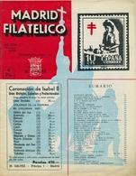 1953 . MADRID FILATÉLICO , AÑO XLVII , Nº 542/9 Y 543/10 ,  EDITADA POR M. GALVEZ - Revistas