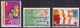MACEDOINE MAKEDONIA Bienfaisance 69 à 71 ** MNH Enfants Homme Vitruve Leonard Vinci Croix-Rouge [GR] - Macédoine