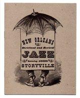 New Orleans, Dixieland And Revival, Jazz, Katalog 1960, Storyville, Catalogue, Programme, Billard (19-2371) - Unclassified