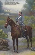 AK Deutscher Soldat Zu Pferd - Morgenrot Gedicht - Patriotika - Feldpost Trier 1915 (45399) - Guerra 1914-18