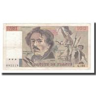 France, 100 Francs, Delacroix, 1991, TTB, Fayette:69bis.03b2, KM:154e - 1962-1997 ''Francs''