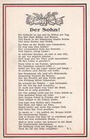 AK Der Sohn - Gedicht - Trommel Fahnen - Patriotika - 1. WK (45400) - Weltkrieg 1914-18