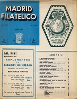 1952 . MADRID FILATÉLICO , AÑO XLVI , Nº 525 / 4 ,  EDITADA POR M. GALVEZ - Revistas