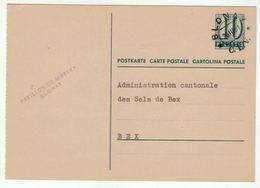 Suisse // Schweiz // Switzerland //  Entier Postaux //  Entier Postal Pour Bex, Au Départ De Blonay (cachet Gare C.E.V. - Ganzsachen