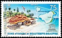 NEW CALEDONIA 2011 Sea Turtle UNESCO Marine Life Turtles Bird Reptiles Animals Fauna MNH - Nuova Caledonia