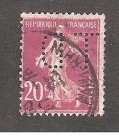 Perfin/perforé/lochung France No 190  TD Thérèse De Dillmont - France