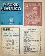 1952 . MADRID FILATÉLICO , AÑO XLVI , Nº 523 / 2 ,  EDITADA POR M. GALVEZ - Revistas