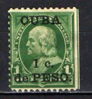 CUBA - 1899 - OCCUPAZIONE AMERICANA - SENZA GOMMA - Cuba