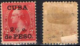 CUBA - 1899 - OCCUPAZIONE AMERICANA - MH - Cuba