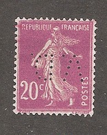 Perfin/perforé/lochung France No 190  V.D. Verley Decroix Et Cie - France