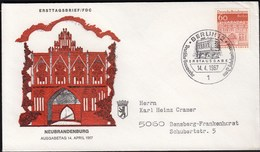 Germany Berlin 1967 / German Architecture Of 12th Ct. / Bauwerke / Neubrandenburg, Town Gate - FDC: Covers