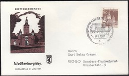 Germany Berlin 1967 / German Architecture Of 12th Ct. / Bauwerke / Weissenburg, Town Gate - FDC: Covers
