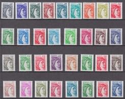 = 33 Sabine De Gandon Neuf Gomme Tropicale 1962 à 1968 1971 à 1979 2056 à 2061 2101 2102 2118 à 2123 2154 à 2156 - 1977-81 Sabine De Gandon