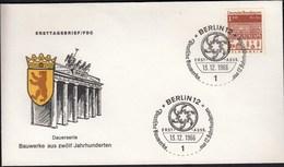 Germany Berlin 1966 / German Architecture Of 12th Ct. / Bauwerke / Hildesheim - FDC: Covers