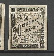 COLONIES FRANCAISES TAXE N° 8 NEUF*  CHARNIERE / MH - Postage Due