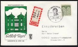 Germany Berlin 1966 / German Architecture Of 12th Ct. / Bauwerke / Schloss Tegel, Castle - FDC: Covers