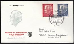 Germany Berlin 1967 / President Heinrich Lübke - FDC: Covers