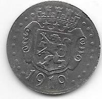 *notgeld  Zweibrucken  10 Pfennig 1919 Fe  630.2a - [ 2] 1871-1918 : Empire Allemand