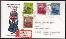 Germany Berlin 1968 / Dolls / Figures / Wohlfahrtsmarken / Welfare Stamp - Dolls
