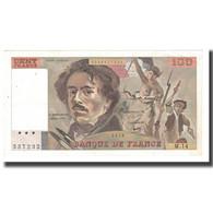 France, 100 Francs, Delacroix, 1979, TTB, Fayette:69.02C, KM:154a - 1962-1997 ''Francs''