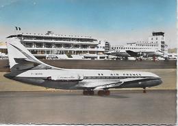 CPSM -  LA CARAVELLE ET L' AEROPORT DE NICE - COTE D'AZUR  ( Circulée En 25-12-1960) - Aérodromes