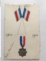 Foto Ak Handgemahlt Patriotique Medaillon Porte Bonheur - Weltkrieg 1914-18