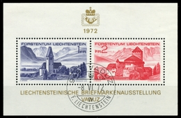 LIECHTENSTEIN 1972 Block 9 Zentrisch Gestempelt X6E9632 - Blocks & Kleinbögen