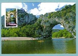 Carte Maximum 2006 - Portrait Des Régions - Les Gorges De L'Ardèche - YT 3948 - 07 Vallon Pont D'Arc - Cartes-Maximum