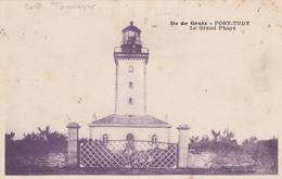 56 ILE DE GROIX  -PORT-TUDY   Le Grand Phare   TB  PLAN 1917  RARE - Groix