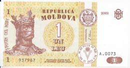 Moldova ,  Moldavie , 1 Leu , 2002 ,  UNC - Moldova