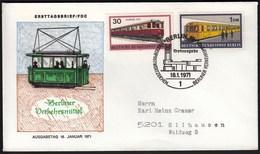 Germany Berlin 1971 / Means Of Transportation In Berlin / Railway, Train - FDC: Covers