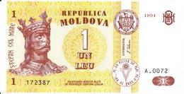 MOLDOVA  MOLDAVIE  MOLDAU , 1 Leu  , 1994 ,  UNC , Bancnote - Moldova