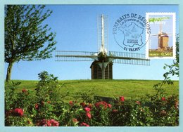 Carte Maximum 2006 - Portrait Des Régions - Le Moulin De Valmy - YT 3949 - 51 Valmy - Maximum Cards