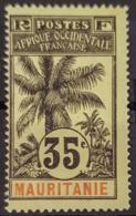 MAURITANIE 1906 - MNG - YT 9 - 35c - Mauritania (1906-1944)