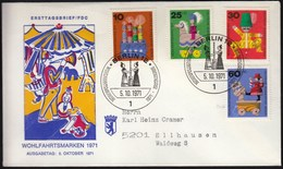 Germany Berlin 1971 / Toys / Wohlfahrtsmarken / Welfare Stamp - Puppen